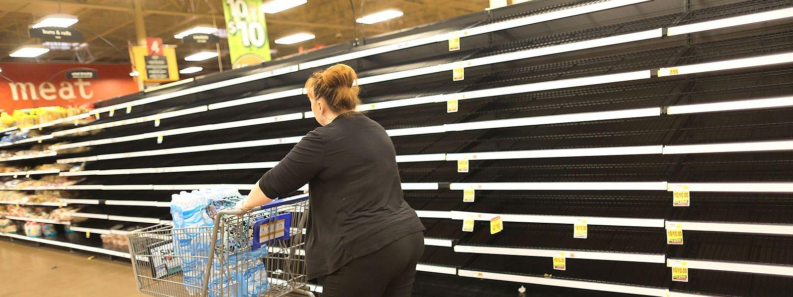 Dieser Supermarkt in Texas ist bereits weitgehend leergekauft.