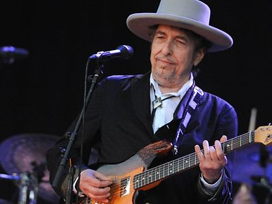 US legend Bob Dylan performs on stage