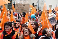 La marche organisée par l'Orange Week en 2019 avait mobilisé plusieurs centaines de personnes, dont de nombreux élus.