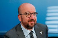 (FILES) In this file photo taken on March 22, 2019 Belgium's Prime Minister Charles Michel arrives for the European Council Summit in Brussels. - Charles Michel was appointed EU Council President on July 2, 2019. (Photo by JULIEN WARNAND / POOL / AFP)