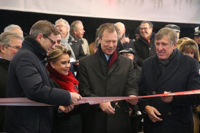 """Einweihung der """"Gare Pfaffenthal - Kirchberg"""", des """"Funiculaire"""" und der Umsteigeplattform """"Roud Bréck - Pafendall""""."""