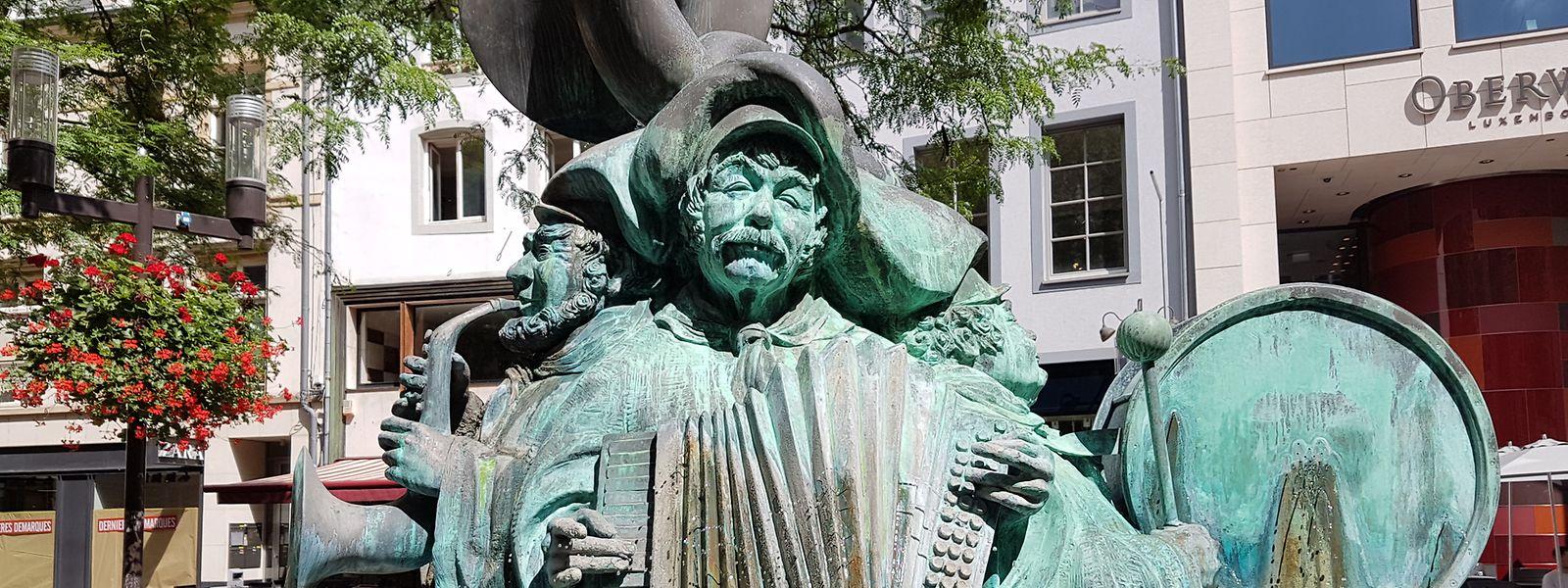 """Wil Lofy hat sich selbst in seinem """"Hämmelsmarsch"""" in Gestalt eines der Musiker dargestellt."""