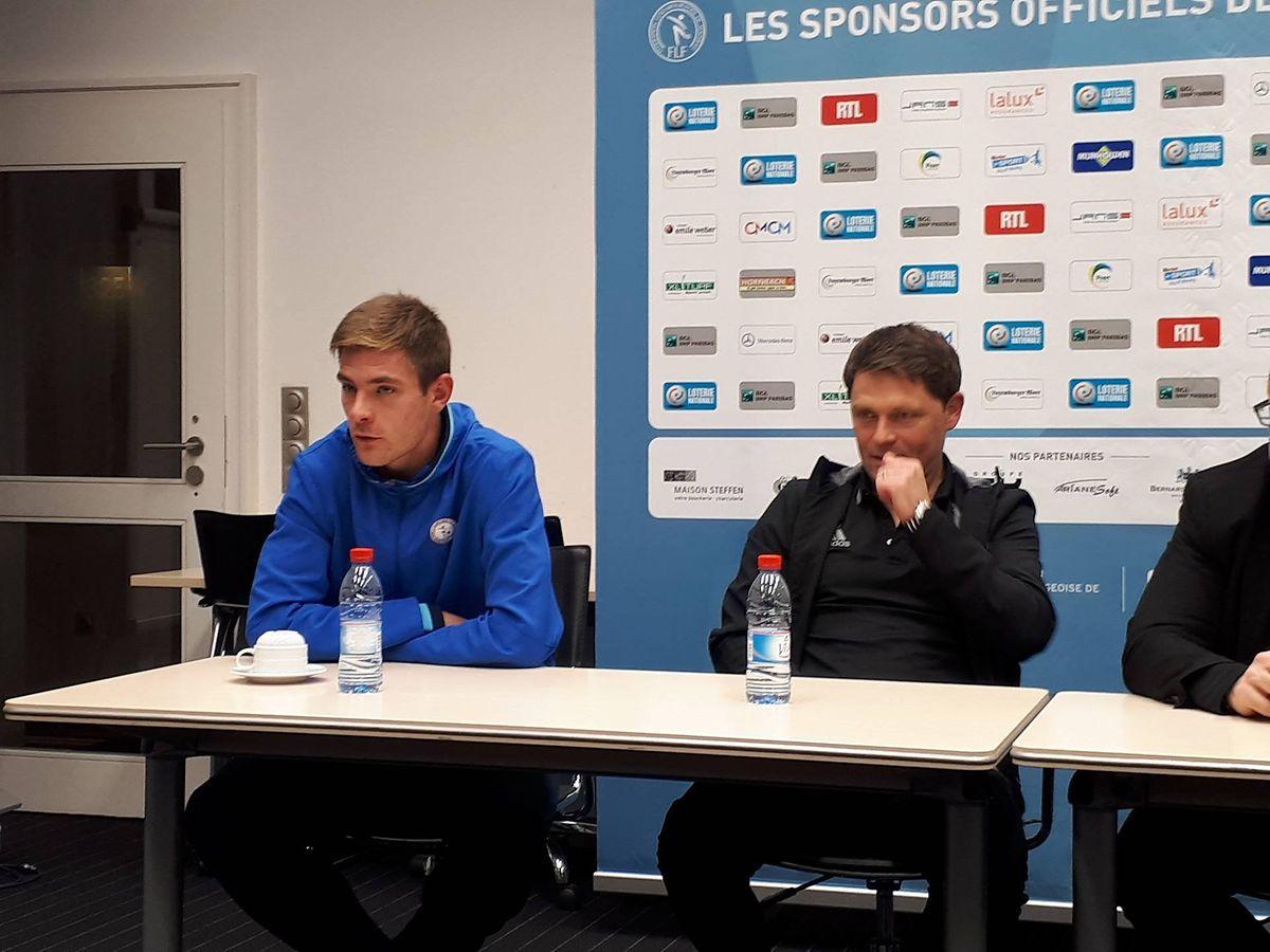 Dave Turpel était présent au côté de Luc Holtz lors de la traditionnelle conférence de presse d'avant-match, ce mercredi à Lipperscheid