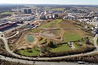 Loklaes,Parkanlage Ban de Gasperich im Bau. Foto: Gerry Huberty/Luxemburger Wort