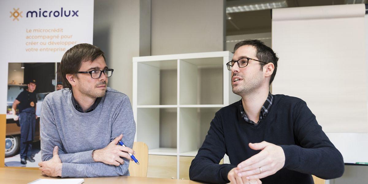 Samuel Paulus et Jérémy Del Rosario de Microlux.