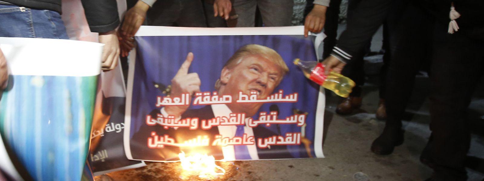 Trumps Nahost-Plan stößt bei den Palästinensern auf wenig Gegenliebe.