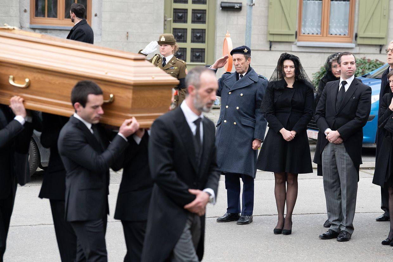 Das Begräbnis von Philippe de Lannoy im belgischen Anvaing.