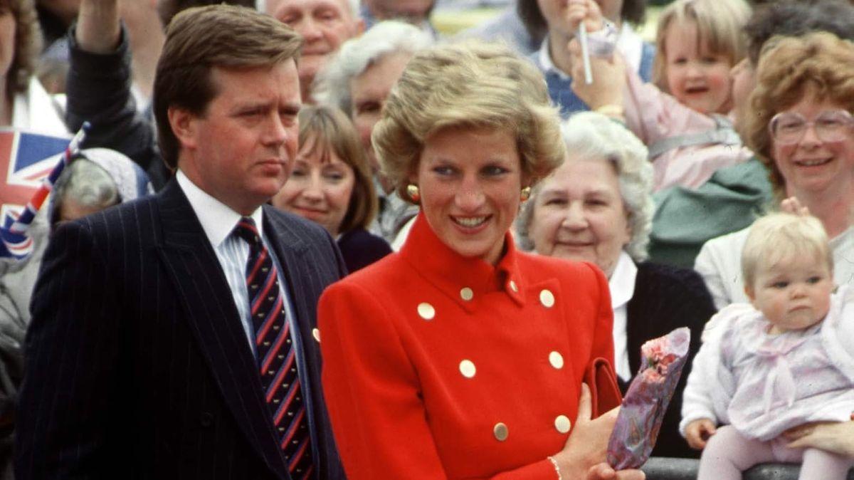 Diana com o seu guarda-costas confidente Ken Wharf.