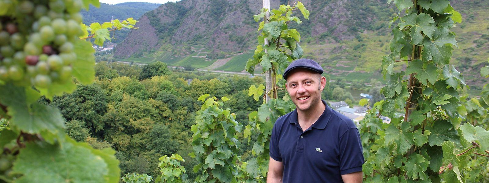 Stolzer Moselwinzer: Martin Cooper in seinem Weinberg.