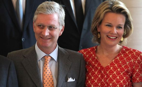 Belgian King Philippe and Queen Mathilde on a state visit to Luxembourg