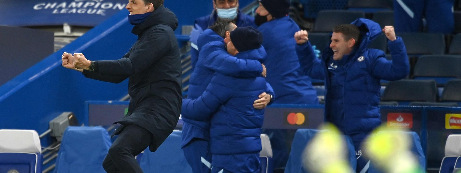 Chelsea-Coach Thomas Tuchel kann seinem Jubel freien Lauf lassen.