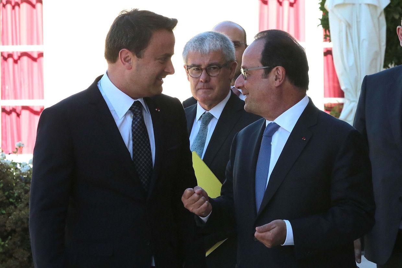 Xavier Bettel aux côtés de François Hollande le 23 août 2016