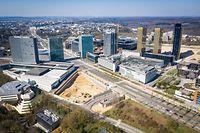 Coronavirus - Leere Plätze - Luxemburg - Lost City - Drone - bvd Kennedy - Kirchberg -  Foto: Pierre Matgé/Luxemburger Wort