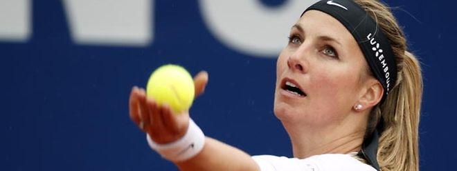 Ce jeudi, Mandy Minella a quitté le tournoi d'Hiroshima.