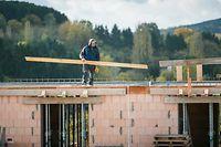 Bauarbeiter, Neubau, Arbeiter, Chantier, Ouvriers, Foto Lex Kleren