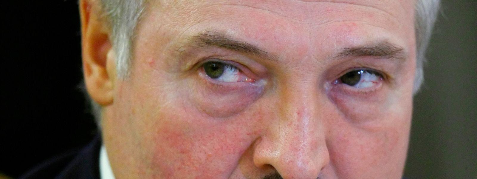 Scharfer, kalter Blick, markanter Schnauzbart: Alexander Lukaschenko.