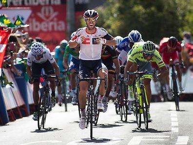 Sieger Jonas van Genechten und Co. holten die Ausreißer erst kurz vor dem Ziel ein.