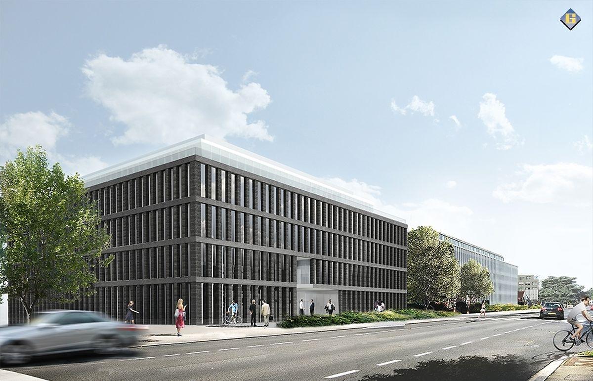 """Der Vorschlag: Das Gebäude """"Moonlight"""" an der Route d'Arlon."""