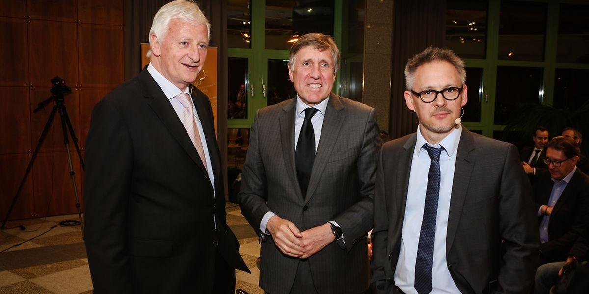 Adal-Präsident Ed Goedert, Nachhaltigkeitsminister François Bausch und Fégarlux-Präsident Philippe Mersch (v.l.n.r.).