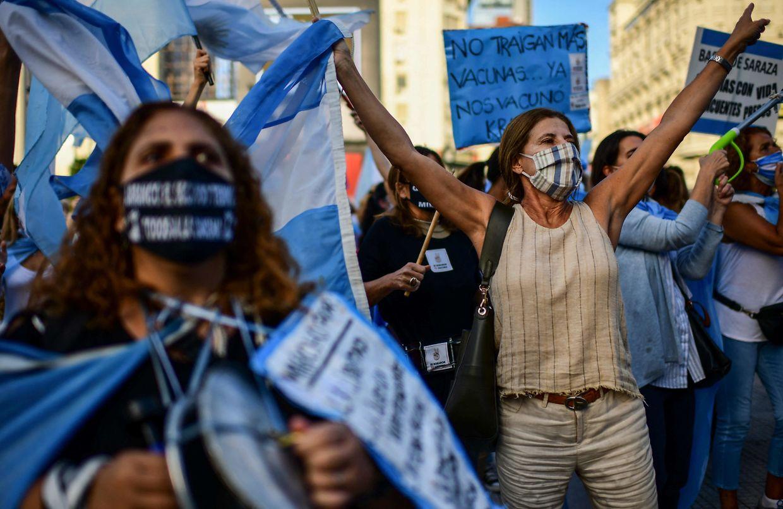 Protestos em Buenos Aires