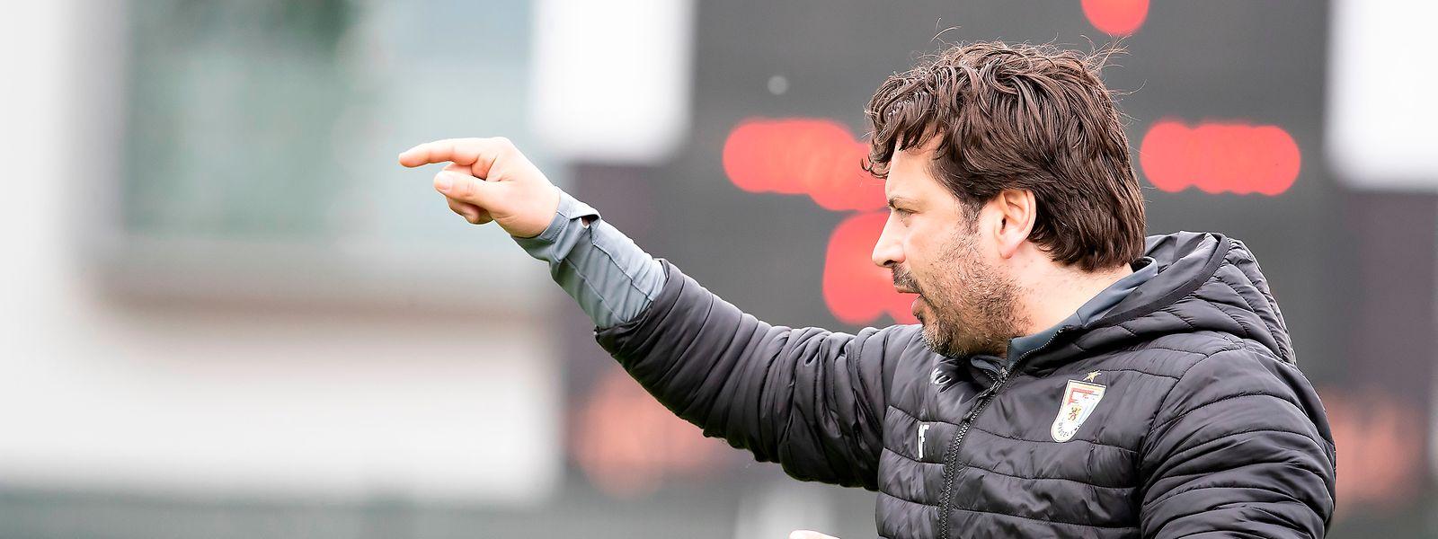F91-Coach Carlos Fangueiro glaubt an seine Mannschaft.