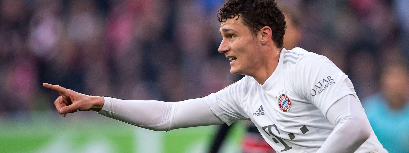Bayerns Benjamin Pavard jubelt nach seinem Treffer zur 1:0-Führung.