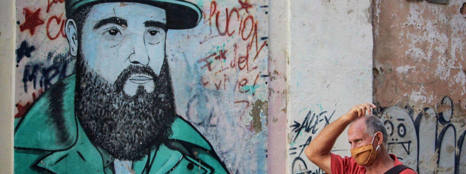 Der frühere Präsident Fidel Castro ist in Kuba noch immer allgegenwärtig.