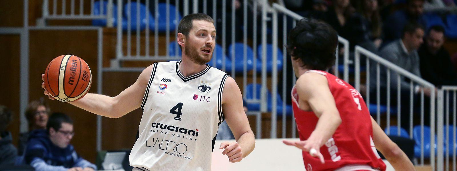 Basketballfans können sich die Duelle zwischen Tom Schumacher (l., T71) und Gaëtan Bernimont (Racing) ab nächster Saison auch von zu Hause aus ansehen.