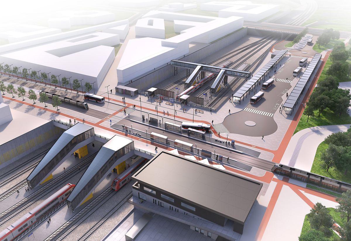 In Howald soll der Bahnhof zu einem Verkehrsknoten heranwachsen.
