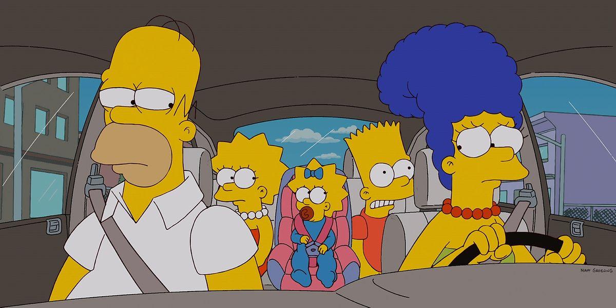 Eine fast ganz normale Familie: (v.l.n.r.) Homer, Lisa, Maggie, Bart und Marge.