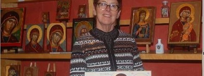 Claudette Zeimes gibt auch Ikonenmalkurse.