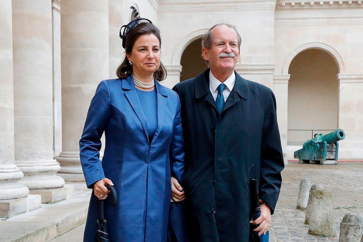 Duarte Pio de Bragança e Isabel de Herédia.