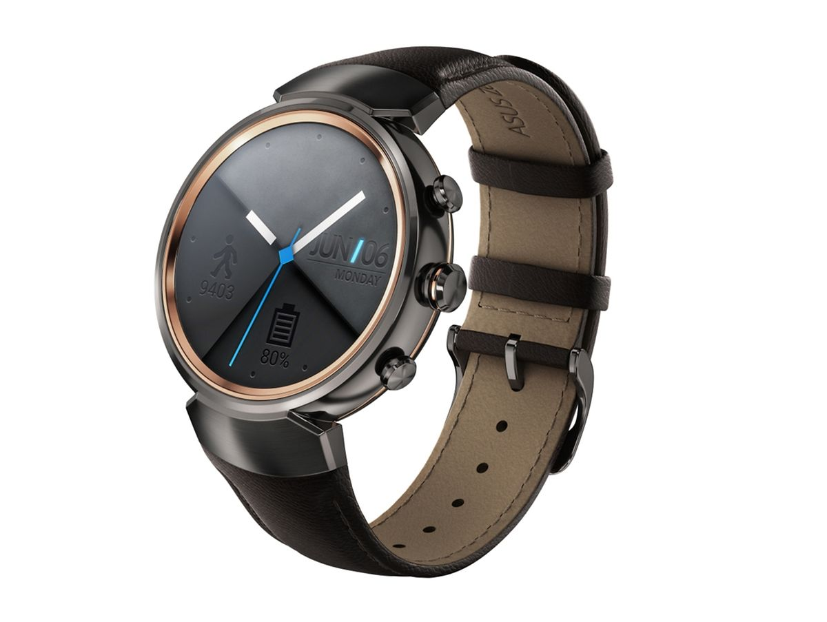 Außen klassisch, innen smart: Die Zenwatch ist eine eher traditionell gehaltene Uhr - sie soll Träger mit einem besonders präzisen Schrittzähler beim Fitnessprogramm unterstützen.