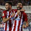 Football Soccer - Spanish Liga Santander - Atletico Madrid v Malaga - Vicente Calderon stadium, Madrid, Spain, 29/10/16 Atletico Madrid's Yannick Carrasco (R) celebrates after scoring his second goal with team mate Saul Niguez. REUTERS/Sergio Perez
