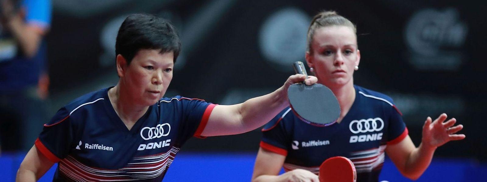 Ni Xia Lian und Sarah de Nutte (r.) könnten im Doppel weit kommen.