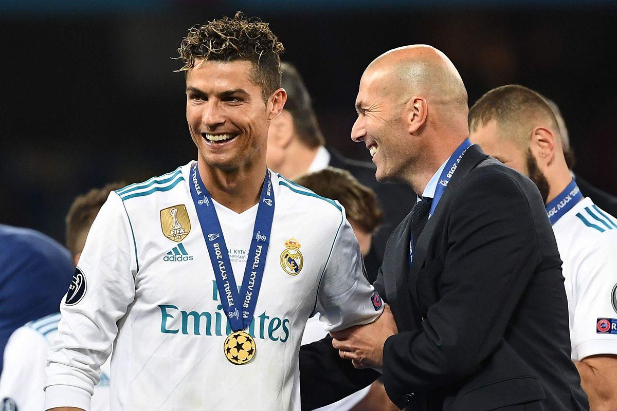 Cristiano Ronaldo e Zinedine Zidane.