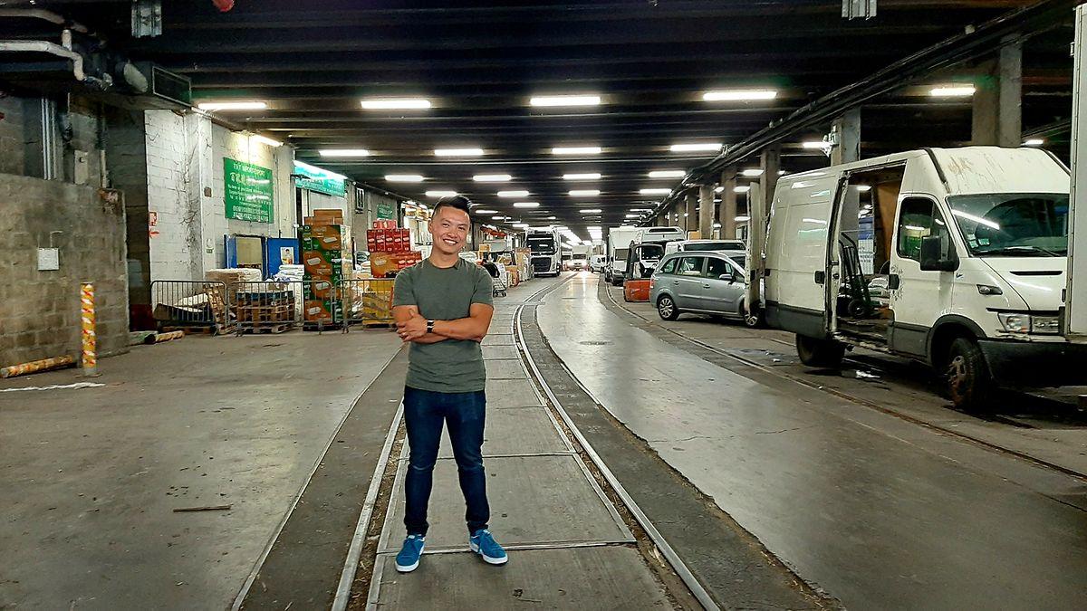 No mercado subterrâneo do 13° arrondissement de Paris.