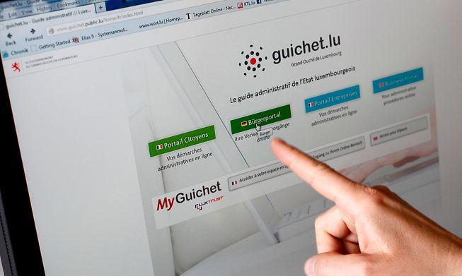Luxembourg's public services internet site MyGuichet.lu