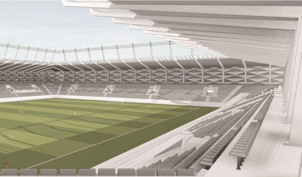 Eine Innenansicht des Stadions.