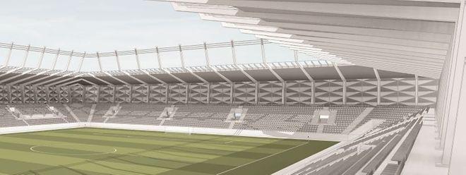 Das Vorprojekt steht, ab 2019 soll der Ball im neuen Stadion rollen.