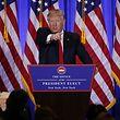 """""""Pressekonferenzen sind eine Menge Arbeit"""" - Donald Trump will weiter twittern."""