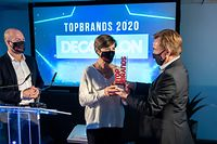 Commerce , Remise Trophees Top Brands 2020, Decathlon , Karine Blanc Foto:Guy Jallay/Luxemburger Wort