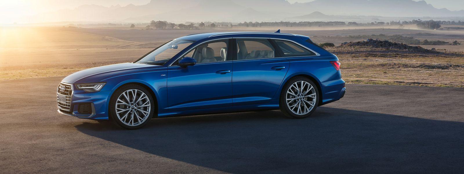 Länge läuft: Der neue Audi A6 Avant steht dynamischer auf den Rädern als sein Vorgänger.