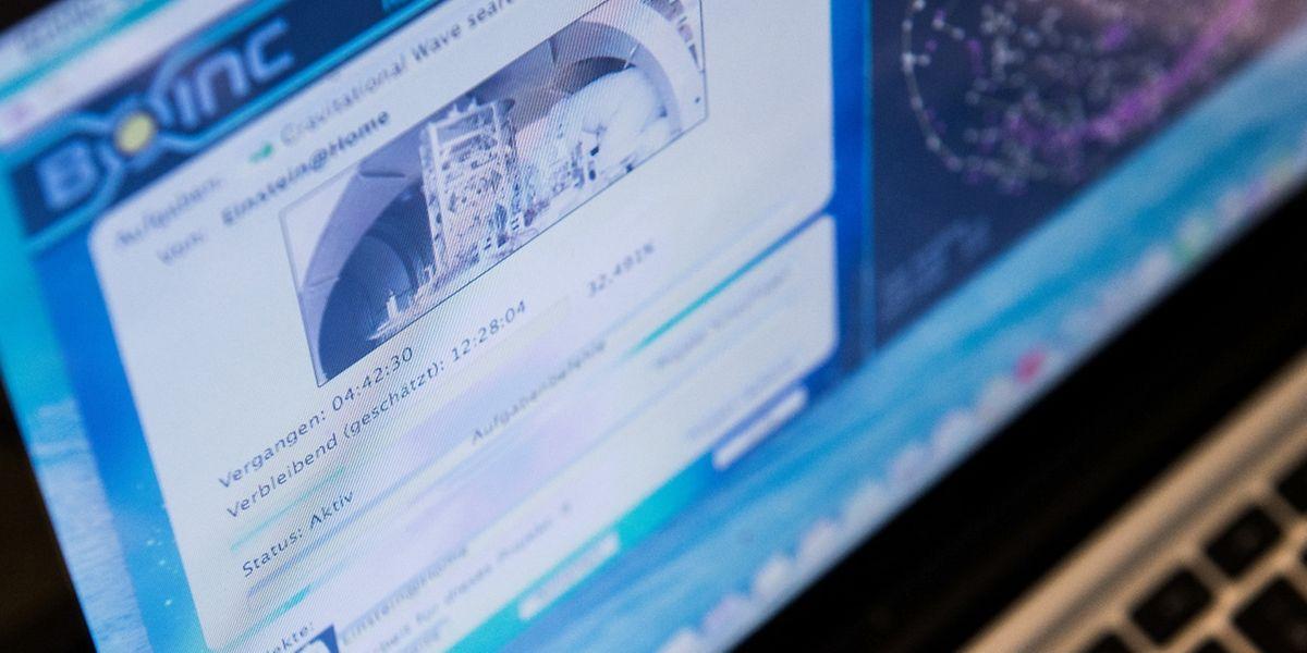 Mit dem Boinc-Client können Forschungsdaten aus aller Welt analysiert werden. Hier sucht das Einstein@Home-Projekt nach Gravitationswellen im Weltall.