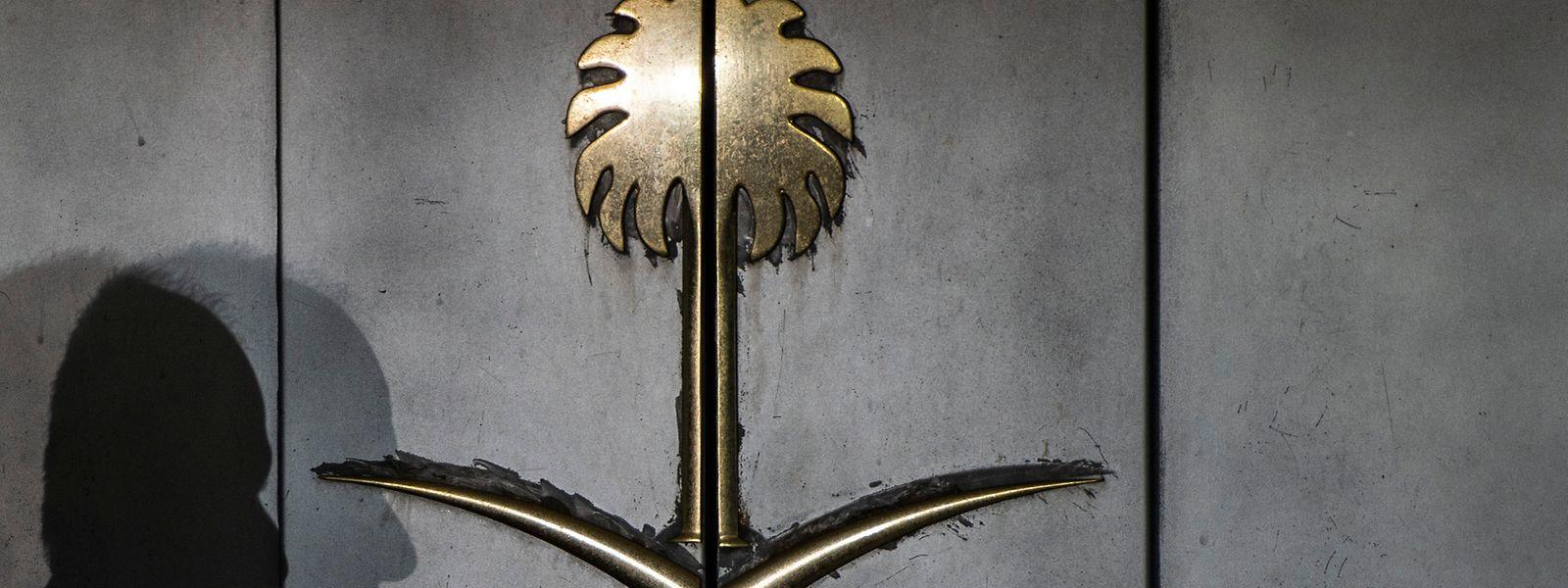 Der Eingang zum saudischen Konsulat in Istanbul.