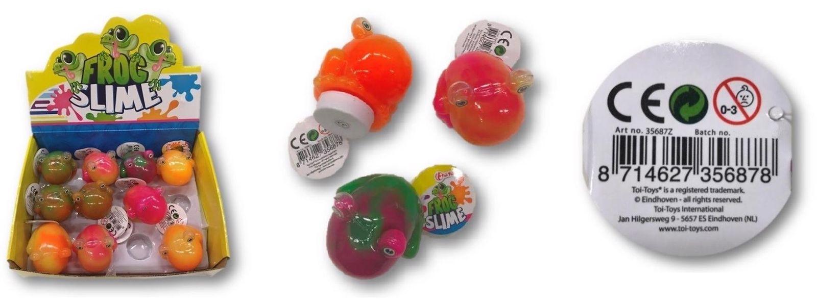 Slime-Spielzeuge gibt es in vielen verschiedenen Varianten. Alle sind klebrig und elastisch.