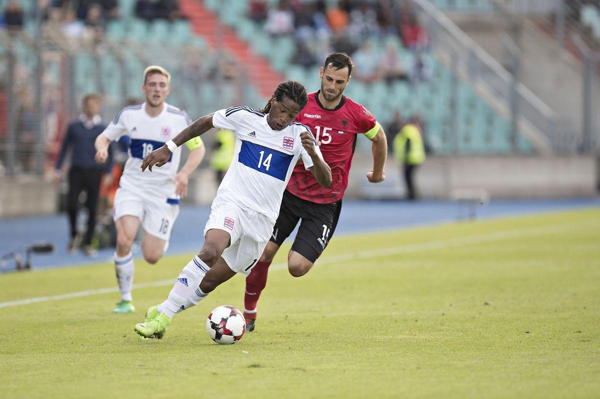 Gerson Rodrigues a causé bien des tracas aux défenseurs albanais, sans oublier de soigner son replacement défensif.