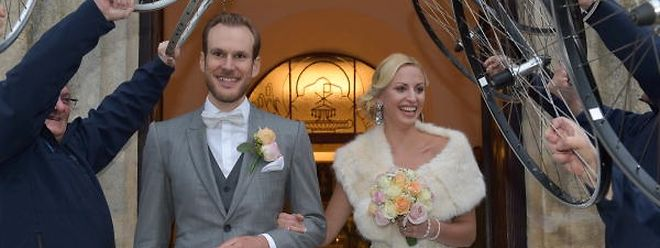 Jempy Drucker heiratete seine langjährige Freundin Lynn.
