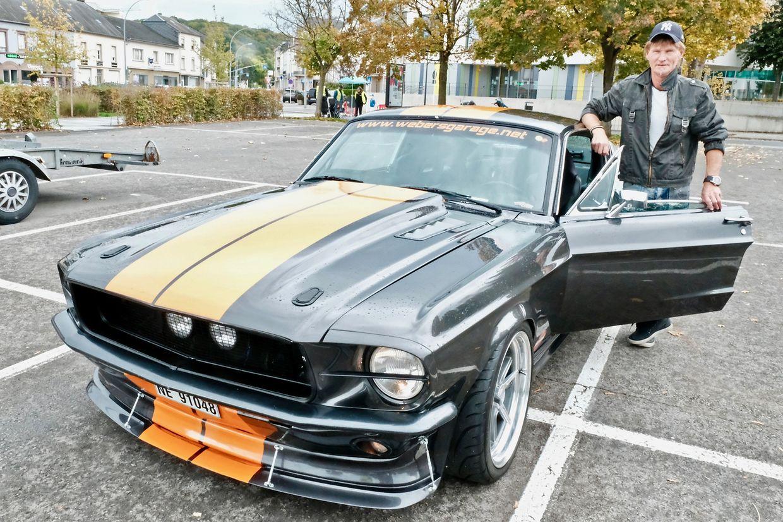 Jan Petter Weber war mit seinem Mustang Fast Back 1967  aus Norwegen angereist.