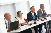 WI.CdP. CNPD Publication du rapport d' activité 2018.Thierry Lallemang,Tiny A. Larsen, Christophe Buschmann,Marc Lemmer.Foto: Gerry Huberty